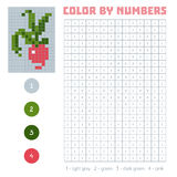 Color by number, fruits and vegetables, radish Royalty Free Stock Photography
