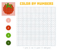 Color by number, fruits and vegetables, tomato Stock Photos