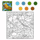 Color by number iguana Royalty Free Stock Image