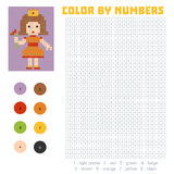 Color by number, Princess Royalty Free Stock Photos