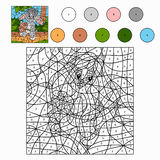 Color by number (rabbit). Color by number for children (rabbit Royalty Free Stock Photo