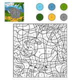 Color by number (rhino) Stock Image