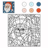 Color by number (Santa Claus) Royalty Free Stock Photos