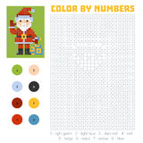 Color by number, Santa Claus Royalty Free Stock Images