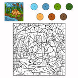 Color by number turtle Royalty Free Stock Image