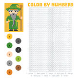 Color by number, Wizard Royalty Free Stock Photography