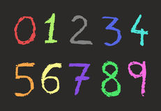 Color numbers Royalty Free Stock Photography
