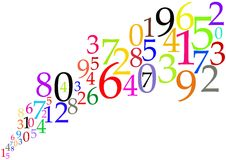 Color Numbers Background - Mathematical Concept Royalty Free Stock Image