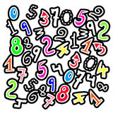 Color numbers Royalty Free Stock Image
