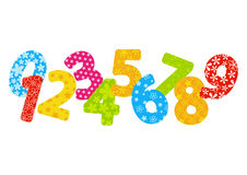 Color numbers Stock Photography