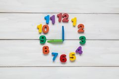 Color numeral on clock. For your design Royalty Free Stock Photos