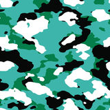 4-color Oceanic Vector Camo Pattern Royalty Free Stock Images