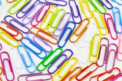 Color office clips. Office background stock image