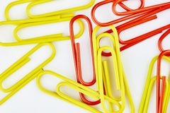 Color office clips. Office background stock photo