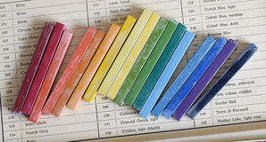 Color oil chalks Royalty Free Stock Photography