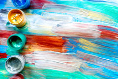 Color oil painting texture with paint pallete for bright background. Color oil painting texture with paint pallete for bright abstract background stock photography