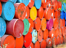 Color of old oil tanks after uesd. Colorful of old oil tanks after uesd in outdoor day light Stock Photography