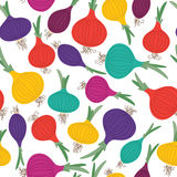 Color onion. Seamless pattern Stock Images