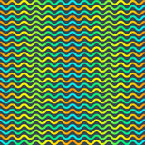 Color optical illusion psychedelic wave seamless pattern Royalty Free Stock Photography