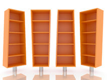 Color orange shelves Stock Photography