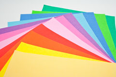 Color origami paper Stock Photos