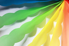 Color origami ribbons Stock Photo