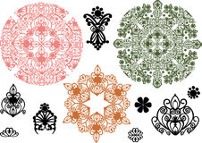 Color ornament elements collection Stock Images