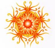 Color ornamental mandala on white paper background. Sacral Chakra. Stock Photography