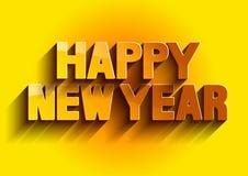 Color oro de la Feliz Año Nuevo stock de ilustración