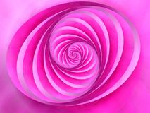 color ovala rosa bandswirls royaltyfri illustrationer