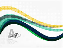 Color overlapping wave stripes,  abstract background. Royalty Free Stock Photo