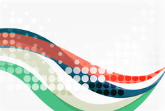 Color overlapping wave stripes,  abstract background. Royalty Free Stock Photography