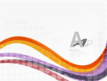 Color overlapping wave stripes,  abstract background. Royalty Free Stock Images