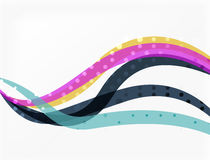 Color overlapping wave stripes, vector abstract background. Vector template for workflow layout, diagram, number options or web design Royalty Free Stock Images