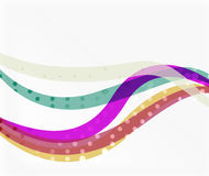 Color overlapping wave stripes, vector abstract background. Vector template for workflow layout, diagram, number options or web design Royalty Free Stock Photography