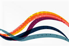 Color overlapping wave stripes, vector abstract background. Stock Photography