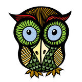 Color owl graphic Royalty Free Stock Photography