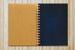 Color pages of a notebook. Open pages of a notebook isolated on white Stock Images