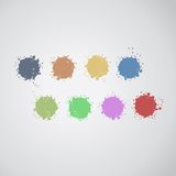 Color paint. Creative design of color spots Royalty Free Stock Photo