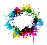 Color paint abstract background Stock Photography