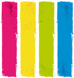 Color paint banners. Fresh flashy colors paint banners Royalty Free Stock Images