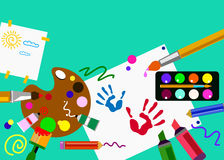 Color paint brush vector abstract colorful. Watercolor Stock Photos