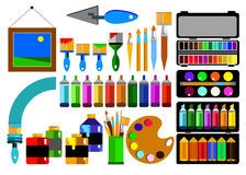 Color paint brush vector abstract colorful. Watercolor Royalty Free Stock Images