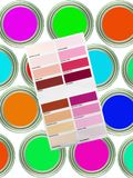 Color Paint Chart Stock Image