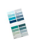 Color Paint Chart. A color paint chart showing modern colors royalty free stock photos