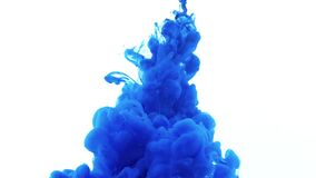 Blue ink water explosion.