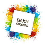 Color paint frame Royalty Free Stock Photo