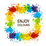 Color paint frame Royalty Free Stock Photos