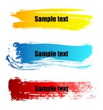 Color paint grunge banners Royalty Free Stock Image
