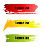 Color paint grunge banners Royalty Free Stock Photo